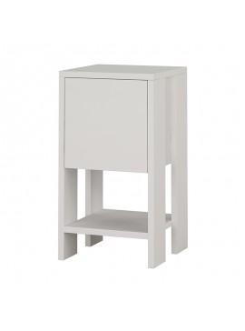 Κομοδίνο Ema pakoworld χρώμα λευκό 30x30x55εκ 119-001072