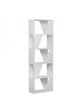 Βιβλιοθήκη Frame pakoworld σε λευκό χρώμα 54x24x168εκ 119-001073