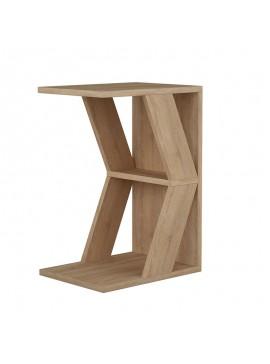 Βοηθητικό τραπέζι σαλονιού Naze pakoworld φυσικό 30x40x57εκ 119-001080