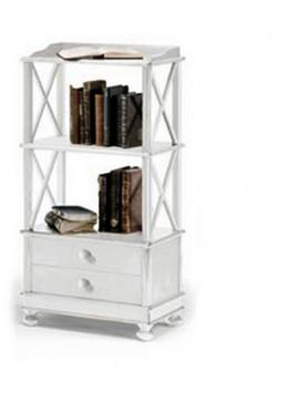 Ιταλικό έπιπλο   Βιβλιοθήκη Art. 1196  EPL05000   54x34x105 εκ.Χρώμα Λευκό