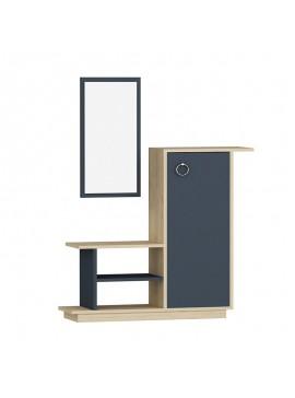 Έπιπλο εισόδου με καθρέπτη Ceel pakoworld χρώμα φυσικό-ανθρακί  80x29.5x90εκ 120-000006