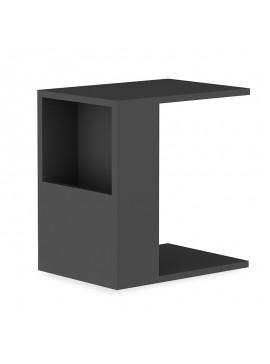 Βοηθητικό τραπέζι σαλονιού Zane pakoworld χρώμα ανθρακί 40x30x50εκ 120-000013