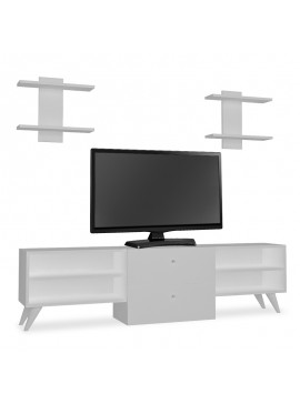 Έπιπλο τηλεόρασης Almira pakoworld χρώμα λευκό 120x31.5x44εκ 120-000014