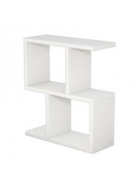 Βοηθητικό τραπέζι σαλονιού Zet pakoworld χρώμα λευκό 51x17x45εκ 120-000036