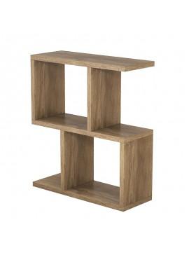 Βοηθητικό τραπέζι σαλονιού Zet pakoworld χρώμα καρυδί 51x17x45εκ 120-000037