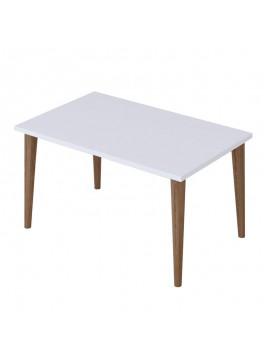 Τραπέζι σαλονιού Zahar pakoworld λευκό-καφέ 72x45x42εκ 120-000133