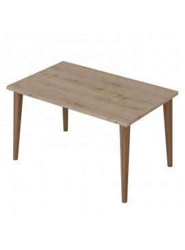 Τραπέζι σαλονιού Zahar pakoworld sonoma-καφέ 72x45x42εκ 120-000134
