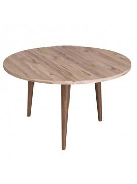 Τραπέζι σαλονιού Wally pakoworld sonoma-καφέ Φ73x40εκ 120-000137