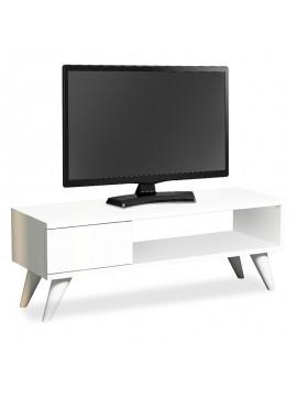 Έπιπλο τηλεόρασης Sensia pakoworld λευκό 90x30x33εκ 120-000150