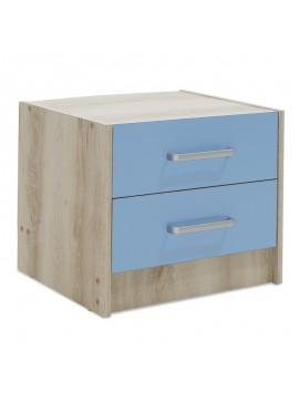 Κομοδίνο παιδικό Looney pakoworld με 2 συρτάρια χρώμα castillo-μπλε 47,5x40,5x40,5εκ 123-000074
