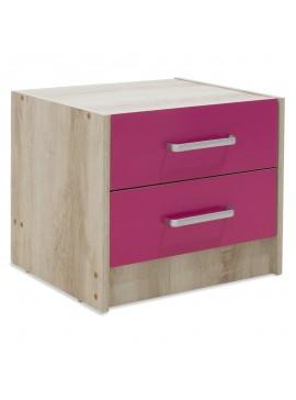 Κομοδίνο παιδικό Looney pakoworld με 2 συρτάρια χρώμα castillo-ροζ 47,5x40,5x40,5εκ 123-000075