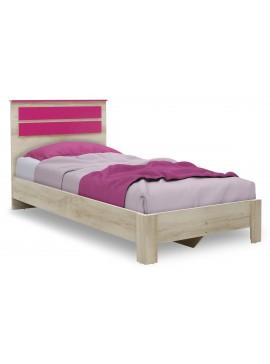 Κρεβάτι παιδικό Looney pakoworld σε χρώμα castillo-ροζ 100x200εκ 123-000077
