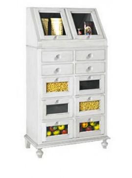 Ιταλικό έπιπλο   Συρταριέρα Art. 1243  EPL04989   80x42x153 εκ.Χρώμα Λευκό