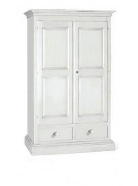 Ιταλικό έπιπλο   Ντουλάπα 2φυλλη Art. 1246  EPL05056   126x61x200 εκ.Χρώμα Λευκό