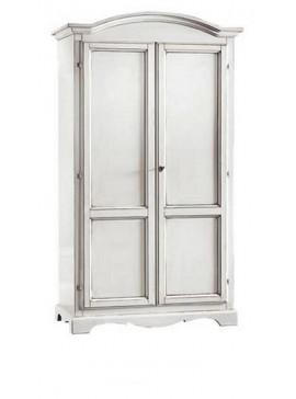 Ιταλικό έπιπλο   Ντουλάπα 2φυλλη Art. 1275  EPL05058   107x55x197 εκ.Χρώμα Λευκό