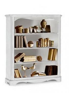 Ιταλικό έπιπλο   Βιβλιοθήκη Art.  1287  EPL04999   120x36x143 εκ.Χρώμα Λευκό