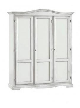 Ιταλικό έπιπλο   Ντουλάπα 3φυλλη Art. 1313  EPL05062   158x56x197 εκ.Χρώμα Λευκό