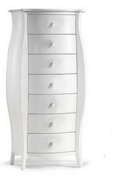 Ιταλικό έπιπλο   Συρταριέρα Art. 1371  EPL05078   74x31x142 εκ.Χρώμα Λευκό