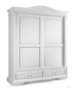 Ιταλικό έπιπλο   Ντουλάπα 2φυλλη Art. 1398  EPL05007   180x67x225 εκ.Χρώμα Λευκό