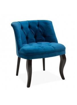 Πολυθρόνα Loreta pakoworld βελούδο σκούρο μπλε 59x64x73εκ 146-000004