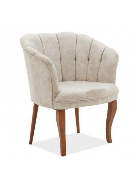 Πολυθρόνα Daisy pakoworld ύφασμα μπεζ antique 73x69x82εκ 146-000024