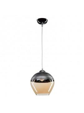 Φωτιστικό οροφής PWL-0955 pakoworld Ε27 μέταλλο ανθρακί-γυαλί μπεζ Φ19x90εκ 147-000001