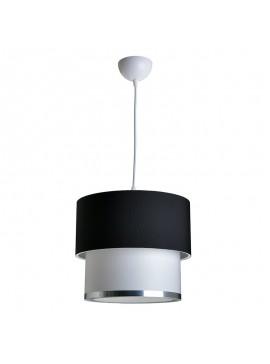 Φωτιστικό οροφής PWL-0963 pakoworld Ε27 μαύρο-λευκό Φ30x55εκ 147-000010