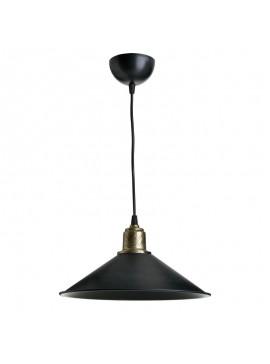 Φωτιστικό οροφής PWL-0964 pakoworld Ε27 μαύρο-bronze antique Φ30x62εκ 147-000011