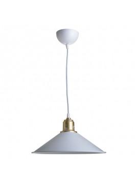 Φωτιστικό οροφής PWL-0964 pakoworld Ε27 λευκό-bronze antique Φ30x62εκ 147-000012