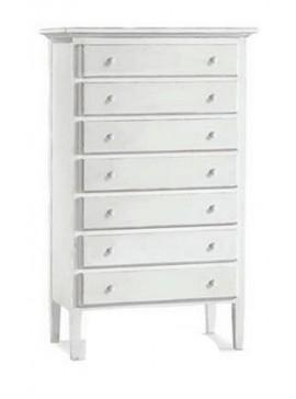 Ιταλικό έπιπλο   Συρταριέρα Art. 1528  EPL05075   84x47x138 εκ.Χρώμα Λευκό