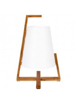 Επιτραπέζιο φωτιστικό Navar pakoworld μπαμπού φυσικό-pp λευκό Φ21,5x32εκ 199-000004