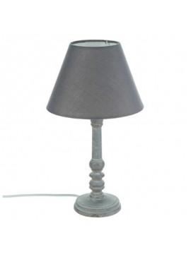 Επιτραπέζιο φωτιστικό Leo pakoworld χρώμα γκρι antique-καπέλο ανθρακί Φ20x36εκ 199-000064