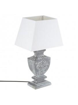 Επιτραπέζιο φωτιστικό Socoro pakoworld χρώμα γκρι antique-καπέλο λευκό 30x22x53.5εκ 199-000065