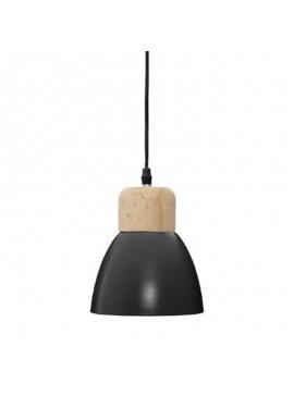 Φωτιστικό οροφής Desy pakoworld Ε14 χρώμα μαύρο-φυσικό Φ15x99εκ 199-000074