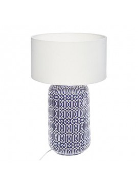Επιτραπέζιο φωτιστικό Borja pakoworld κεραμικό χρώμα μπλε-καπέλο λευκό Φ32x52,5εκ 199-000087