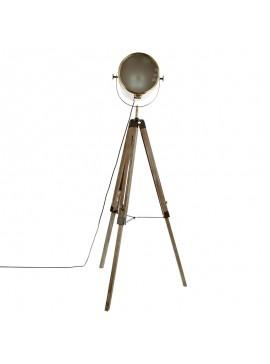 Ρυθμιζόμενο φωτιστικό δαπέδου Mads pakoworld E27 bronze-καφέ 62.5x57x150εκ 199-000094