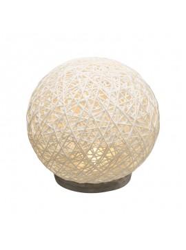 Επιτραπέζιο φωτιστικό Ball pakoworld λευκό-led μπαταρία Φ18,5x18εκ 199-000095