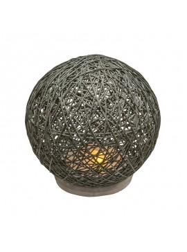 Επιτραπέζιο φωτιστικό Ball pakoworld ανθρακί led μπαταρία Φ18,5x18εκ 199-000101