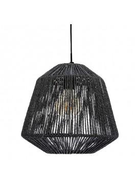 Φωτιστικό οροφής Jily pakoworld Ε27 μαύρο Φ29x26.8εκ 199-000178