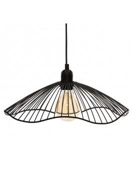 Φωτιστικό οροφής Galt pakoworld Ε27 μαύρο Φ34x15.5εκ 199-000182