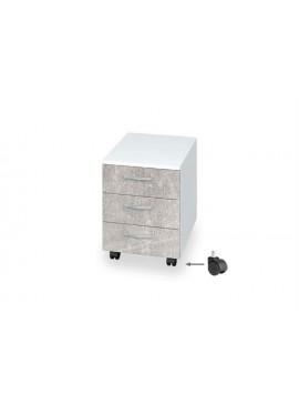 Συρταριέρα γραφείου με τρία συρτάρια και ροδάκια για Buro 3 Συρτάρια για BURO 40/45/51, Genomax  12814-19929