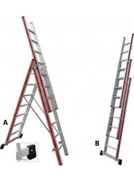 Profal Τριπλή Σκάλα Αλουμινίου 3x7 800307