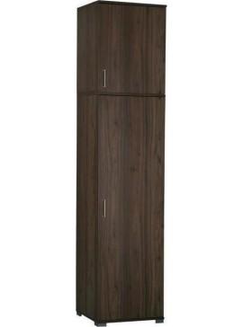 Ντουλαπα  καρυδι μονοφυλλη με  παταρι Δίφυλλη 60x48x259cm 11500601 11510601
