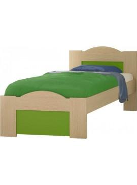 """Παιδικό κρεβάτι μονό """"ΚΥΜΑ"""" δρύς-λαχανί 90x190εκ. SB NO47"""