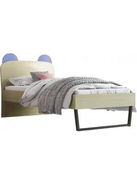 Κρεβάτι Παιδικό no91c Μονό Κορώνα 90x190 cm/ Δρυς-Σιελ