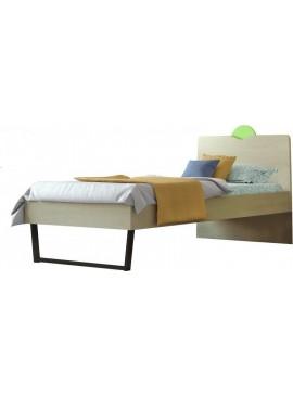 Κρεβάτι Παιδικό Μονό no94c Ανατολή 90x190 cm/ Δρυς-Λαχανί