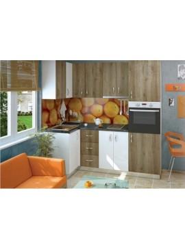 Σύνθεση Κουζίνας μήκος 6,4μ ύψος 2,17μ βάθος 0,60μ, Luxury 100/220, Genomax  12814-356757758