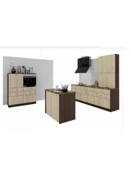 Σύνθεση Κουζίνας 6,20 μ. ύψος 2,17 μ βάθος 0,60 μ, Luxury 100/120/240, Genomax 12814-5432567