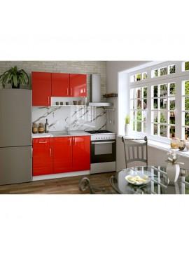 Σύνθεση Κουζίνας 2.40μ., Luxury 120, Genomax- Κόκκινο  Χρώμα  12814-32581