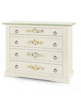 Ιταλικό έπιπλο   Συρταριέρα Art. 498  EPL05089   115x50x90 εκ.Χρώμα Λευκό